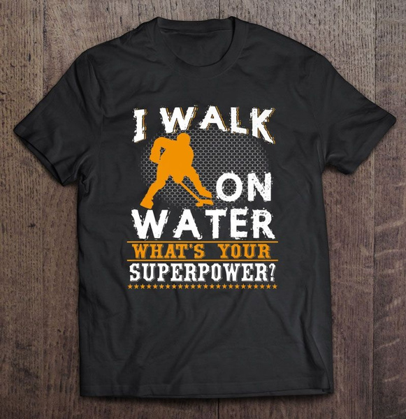 walkonwater, Plus size top, Cotton T Shirt, icehockey