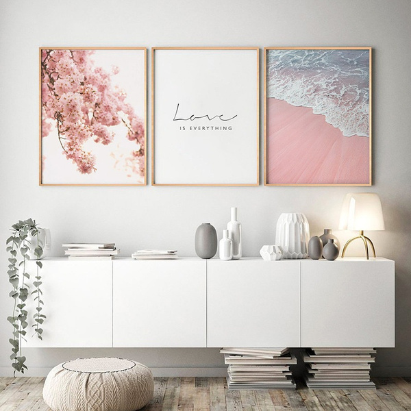 pink, decoration, canvasart, Flowers