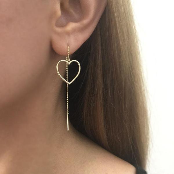 Sterling, Heart, earrings jewelry, Silver Earrings