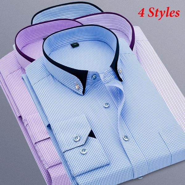 Plus Size, formal shirt, Dress Shirt, Sleeve