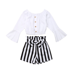 tshirtstripedshortpant, stripesshort, pants, Long Sleeve