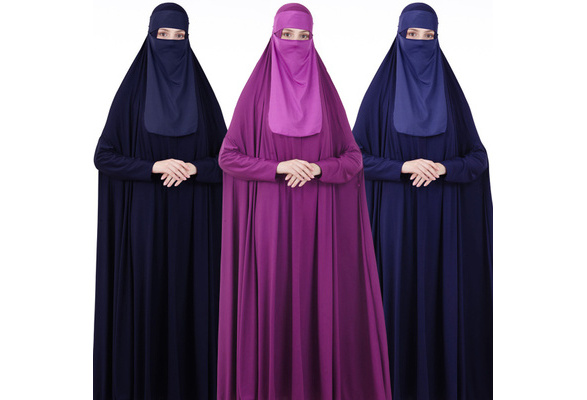 Details about  /Muslim Long Khimar Hijab Veil Scarf Amira Prayer Abaya Niqab Women Overhead Arab