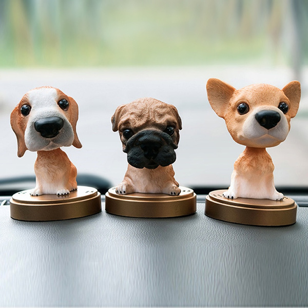 Teddy Brown} FonteeUS Car Nodding Dog Doll Cute Dog Ornaments Shaking Bobble Head Bobbing Head Dogs Puppy Car Interior Dashboard Decoration Creative Gifts for Car Home Desk Docoration