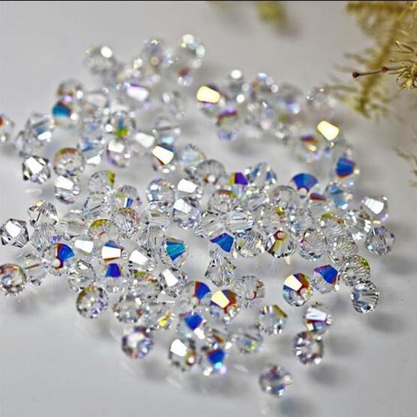 crystal pendant, charmbead, crystalbead, Colorful
