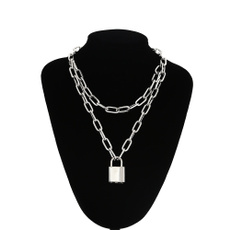 Chain Necklace, Necklace, Chain, Lock