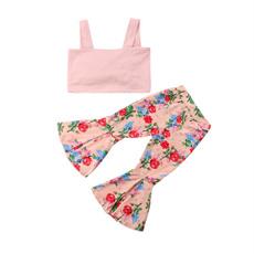 Vest, Flowers, kids clothes, bellbottomspant