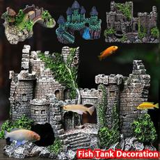 fishtankcastledecoration, aquariumsaccessory, Tank, fishtankcavedecoration