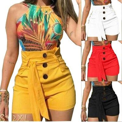 Summer, Trousers & Shorts, Shorts, high waist