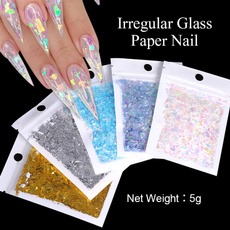 tinfoil, nail decoration, nail stickers, art