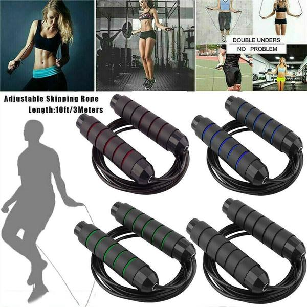 Skipping Jump Rope Women Men Gym Aerobic Exercise Boxing Bearing Speed Fitness