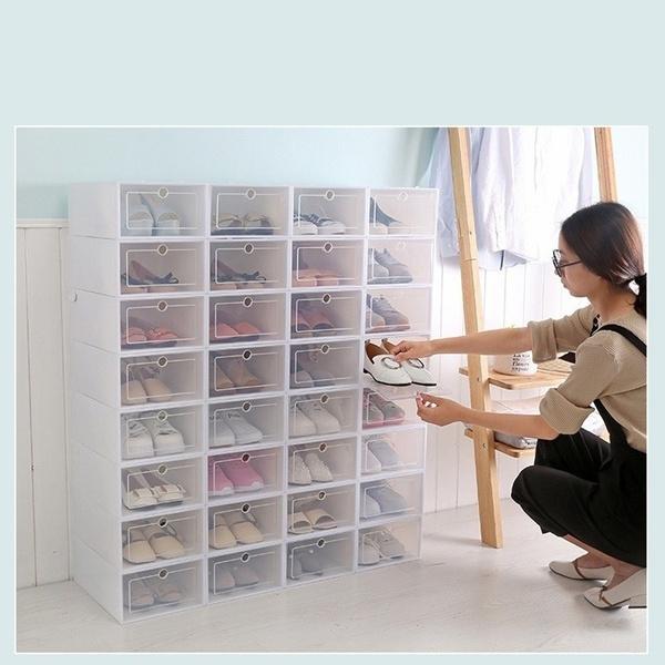 1/2/3/4/5PCS Shoe Racks Plastic Storage