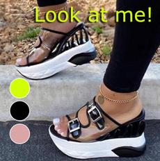 wedge, Flip Flops, Sandals, Summer