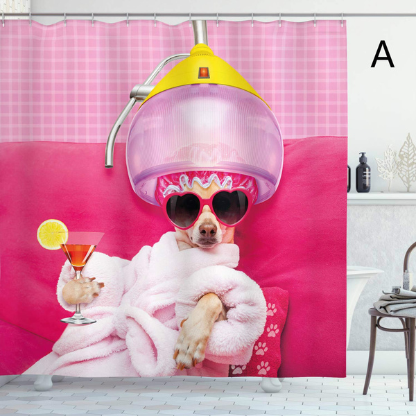 pink, Funny, showercutain, Fashion