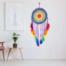 rainbow, indiancraft, Dreamcatcher, Home & Living