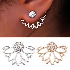 Sterling, Stud Earring, Simple, sterling silver