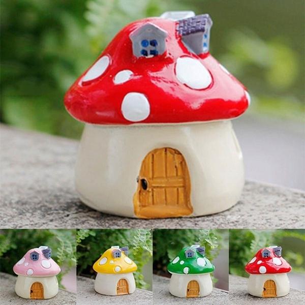 Decor, mushroomhouse, resinterrarium, gardenlandscape