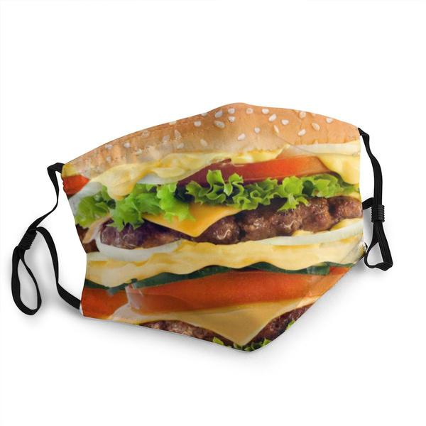 Polyester, burger, unisex, Masks