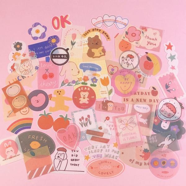 kawaiistationery, pink, scrapbookingdecorative, cute