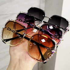 Fashion, Brand Sunglasses, Rhinestone, Women's Fashion