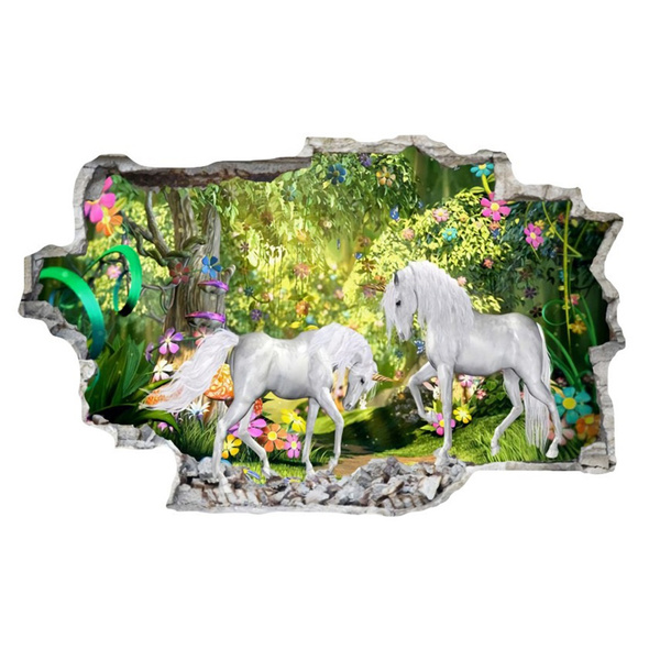 unicornwalldecal, doorsticker, Home & Living, Stickers