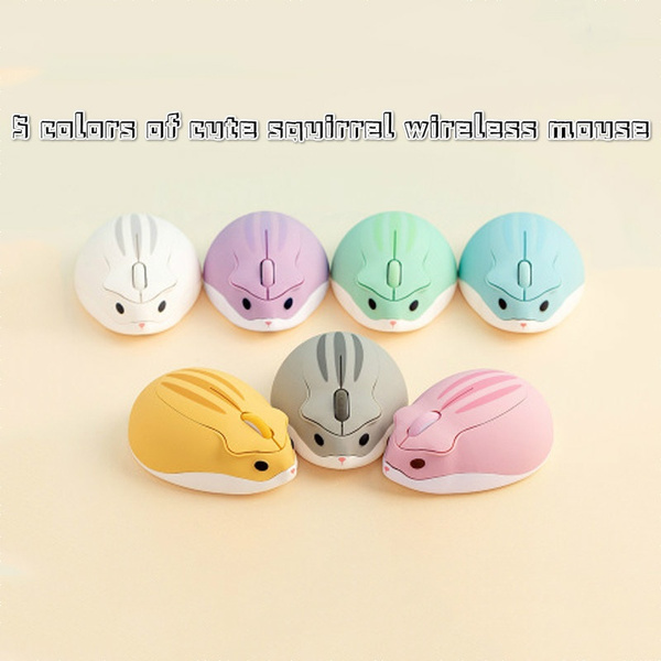 White Electronic Products Wireless Mouse Girl Cute Ultra-Thin Laptop Computer Desktop Notebook Mouse XIAONINGMENG Mouse Black Color : Pink