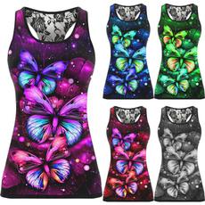 butterfly, Women Vest, Vest, Plus Size