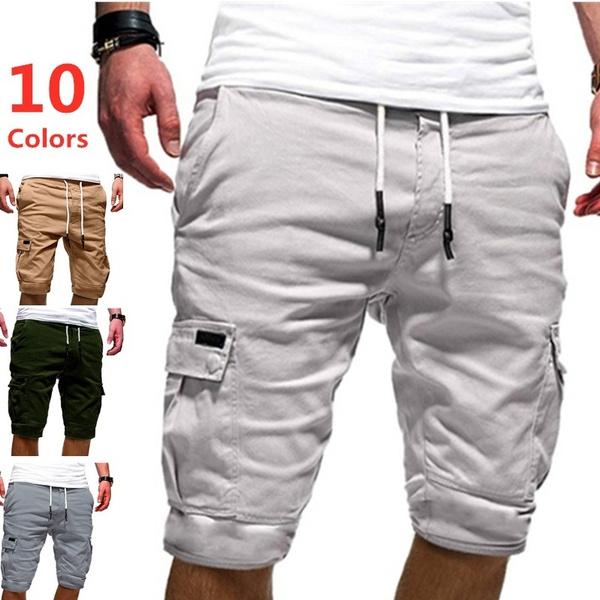 Shorts, Elastic, Casual pants, summer shorts