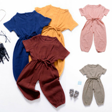infantoverallscottonoutfit, Shorts, flyingsleeveplaysuit, Sleeve