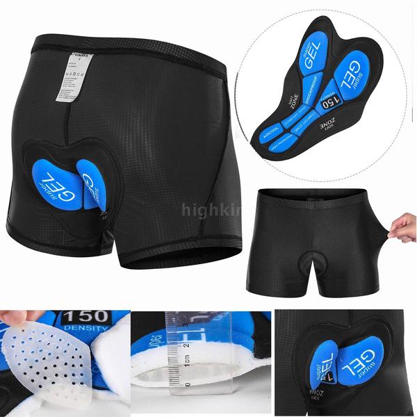 Lixada Mens Bike Padded Shorts Cycling 3D Padded Underwear Bicycle Padding Riding Shorts Biking Underwear Shorts