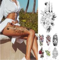 Black Tattoo Diamonds Crowns Temporary Tattoo Flash Tattoos Body Art 3d Tattoo Painting Shiny Disposable Indian Henna Tatuagem Wish