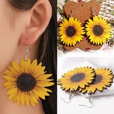 daisyearring, cute, Flowers, earrring