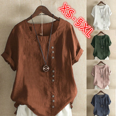 Summer, Plus Size, Women Blouse, summer t-shirts