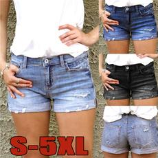 Women Pants, Summer, Shorts, Denim