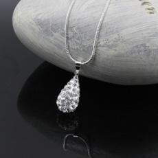 Sterling, crystal pendant, DIAMOND, Chain