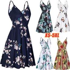 Summer, slingdresse, Fashion, plus size dress