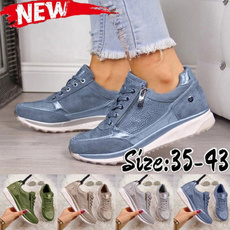 casual shoes, wedge, Sneakers, Lace