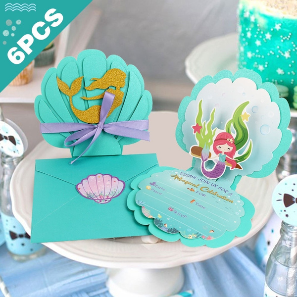 partyinvitaiton, Shower, mermaidparty, invitationcard