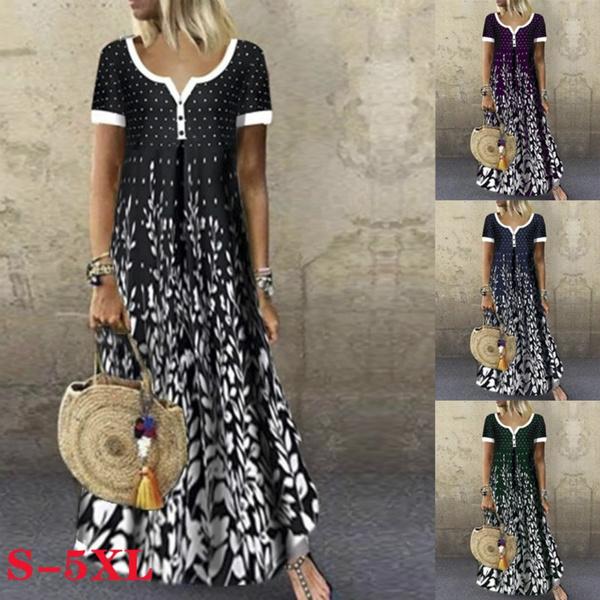 Deep V-Neck, bohomian, boho, long dress