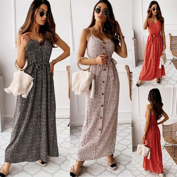 Women's Fashion, Summer, vestidos casual, long dress