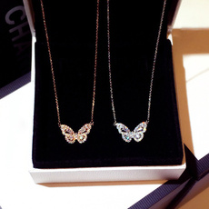 butterfly, Sterling, gold, sterling silver