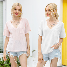 Fashion, Tops, casualvnecktshirt, Ladies Top