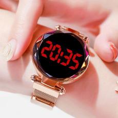 starryskywatch, magnetbucklewatch, Fashion, rosegoldwatch