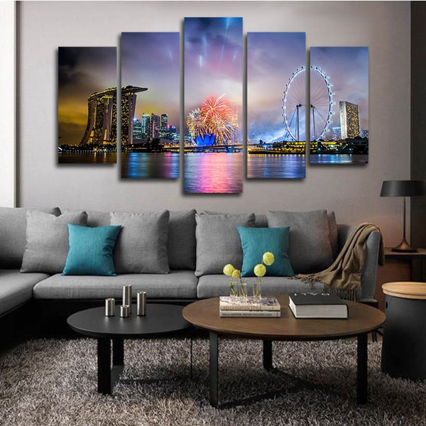 canvasart, nightview, Home Decor, canvaspainting