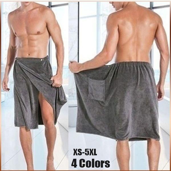 Pocket, Men, Towels, bathwrap
