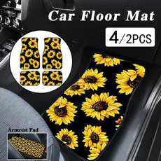 carautofloormat, Sunflowers, autocarpet, cararmrestpad