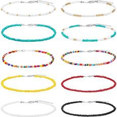 beadnecklace, bohemia, Chain Necklace, Jewelry