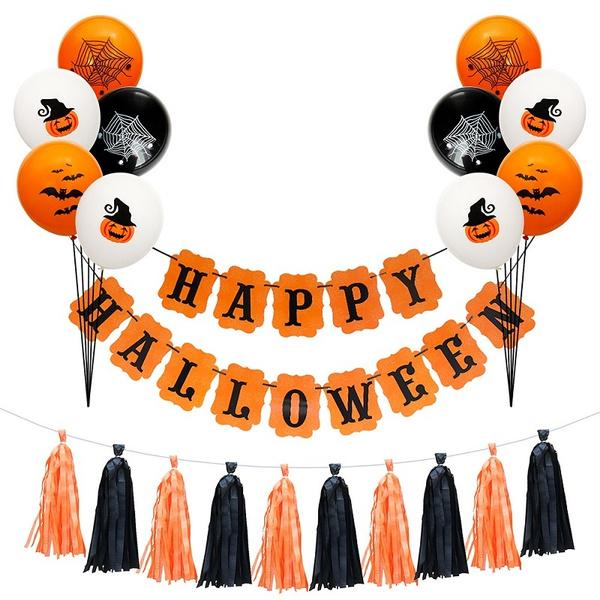 happyhalloween, Bat, paperbanner, spiderwebballoon