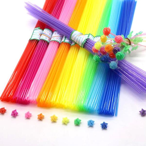 Star, straw, Tubes, folded