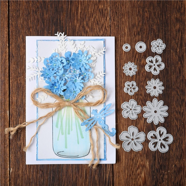 Flowers, Scrapbooking, cuttingdie, Metal