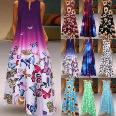 butterfly, Summer, dressesforwomen, Dress